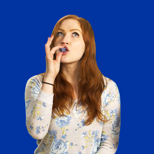Woman enjoying a yum